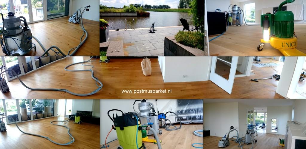 140 m2 schuren lakken reparatie