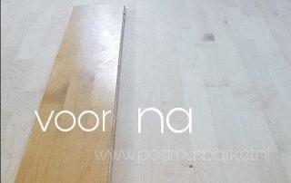 maple vloer schuren lakken