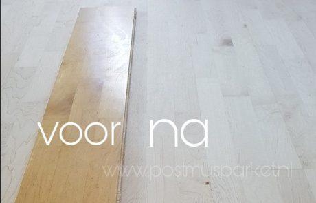 Maple vloer bleek lakken