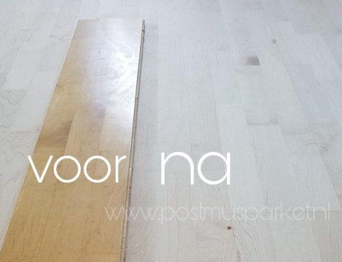 Verkleurde vloer weer lichter maken