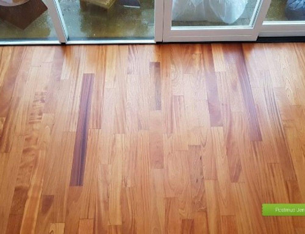Afzelia vloer geolied