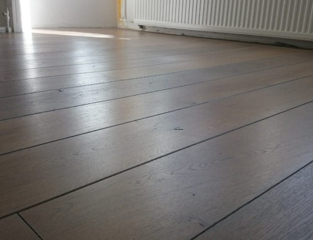 Eiken vloer laten schuren grey wash
