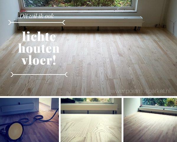 Vloer afwerken met een speciale lichte lak