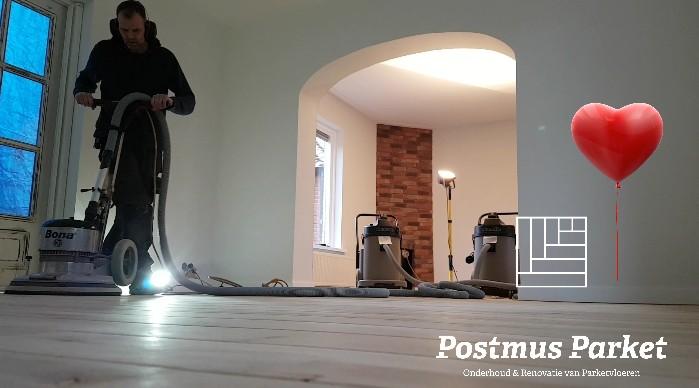 stofvrij houten vloer schuren in Onderdendam