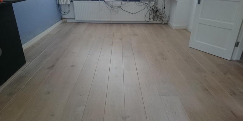 Houten Vloer White Wash Olie Lakken Postmus Parket